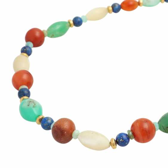 Necklace made of different precious stone elements - photo 4