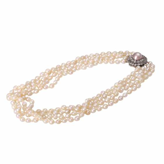 Rare Collier, 4-row, natural pearls, - photo 4
