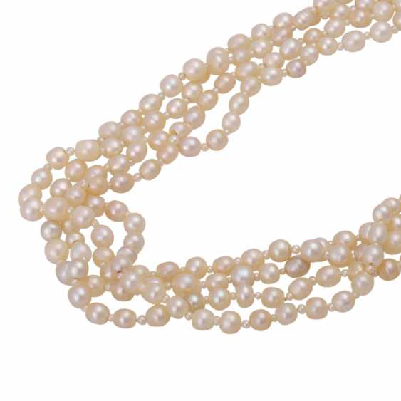 Rare Collier, 4-row, natural pearls, - photo 5
