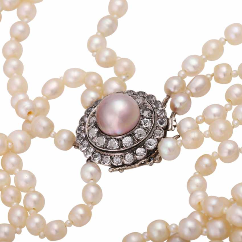 Rare Collier, 4-row, natural pearls, - photo 6