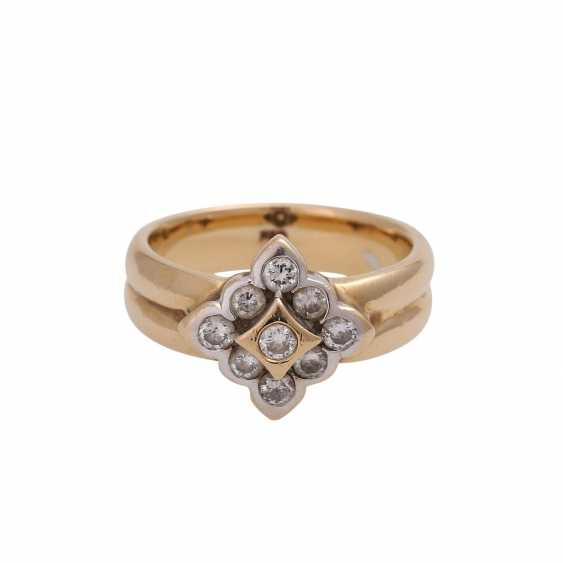 Ring with brilliant-cut diamonds approx 0.5 ct, - photo 1