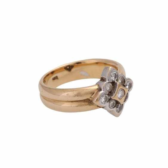 Ring with brilliant-cut diamonds approx 0.5 ct, - photo 2