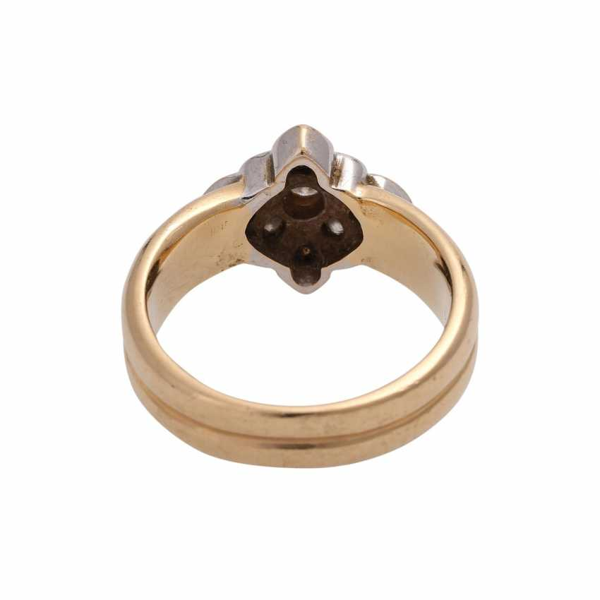 Ring with brilliant-cut diamonds approx 0.5 ct, - photo 4