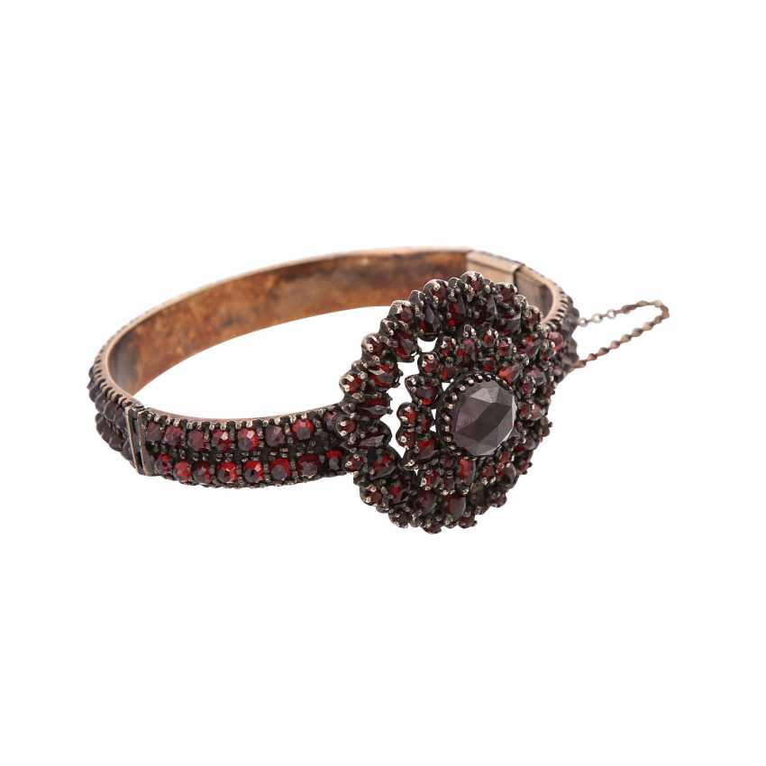 Vintage garnet jewelry 2-piece, - photo 2