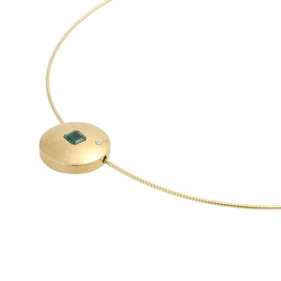 Choker and pendant with emerald - photo 4