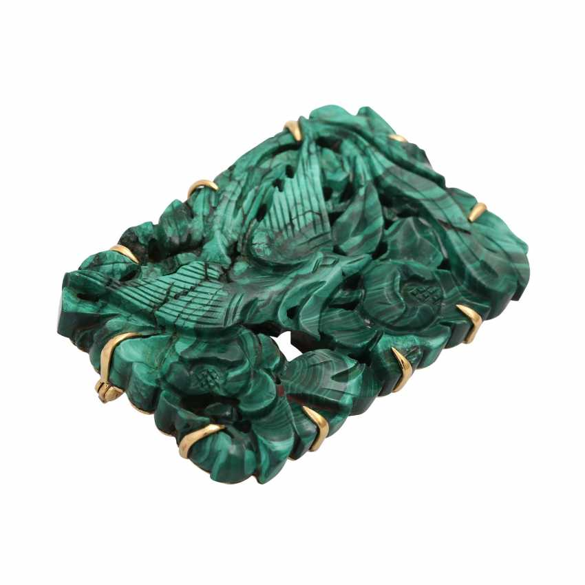 Brooch with malachite - photo 3