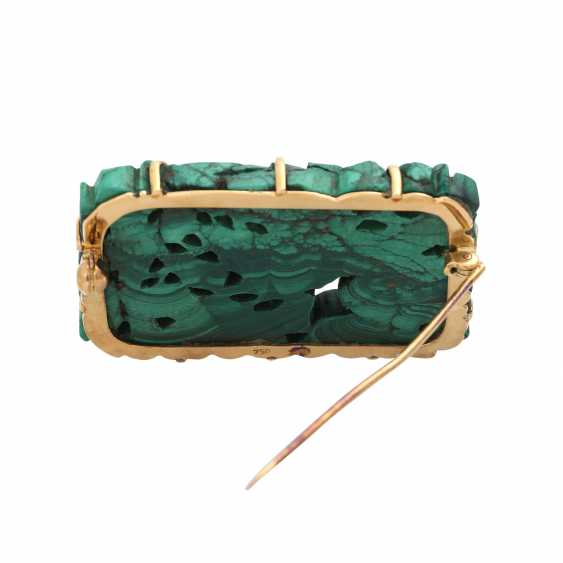 Brooch with malachite - photo 4