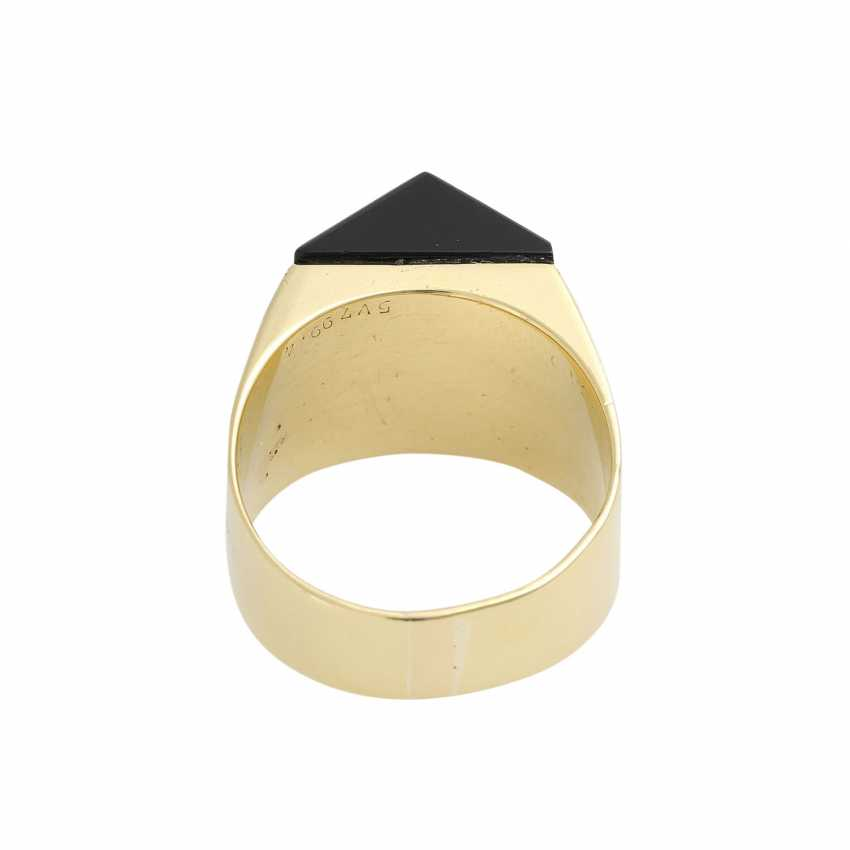 Ring with Onyx and diamonds - photo 4