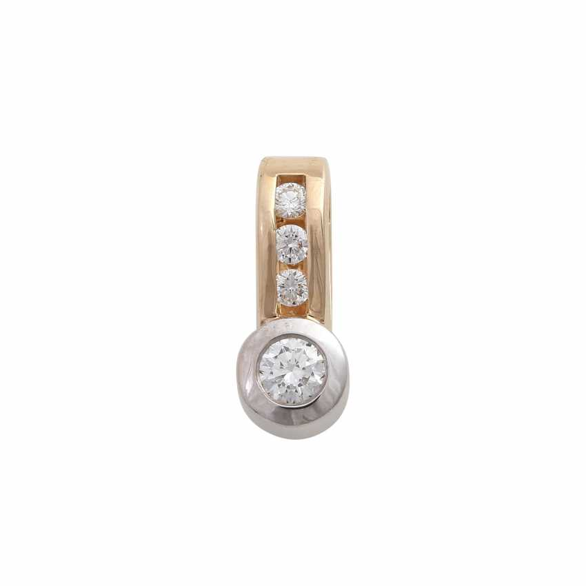 Clip pendant with 4 brilliant-cut diamonds, together CA. 0,25 ct, - photo 1
