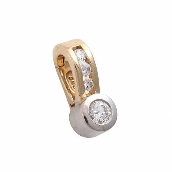 Clip pendant with 4 brilliant-cut diamonds, together CA. 0,25 ct, - photo 2
