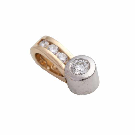 Clip pendant with 4 brilliant-cut diamonds, together CA. 0,25 ct, - photo 3
