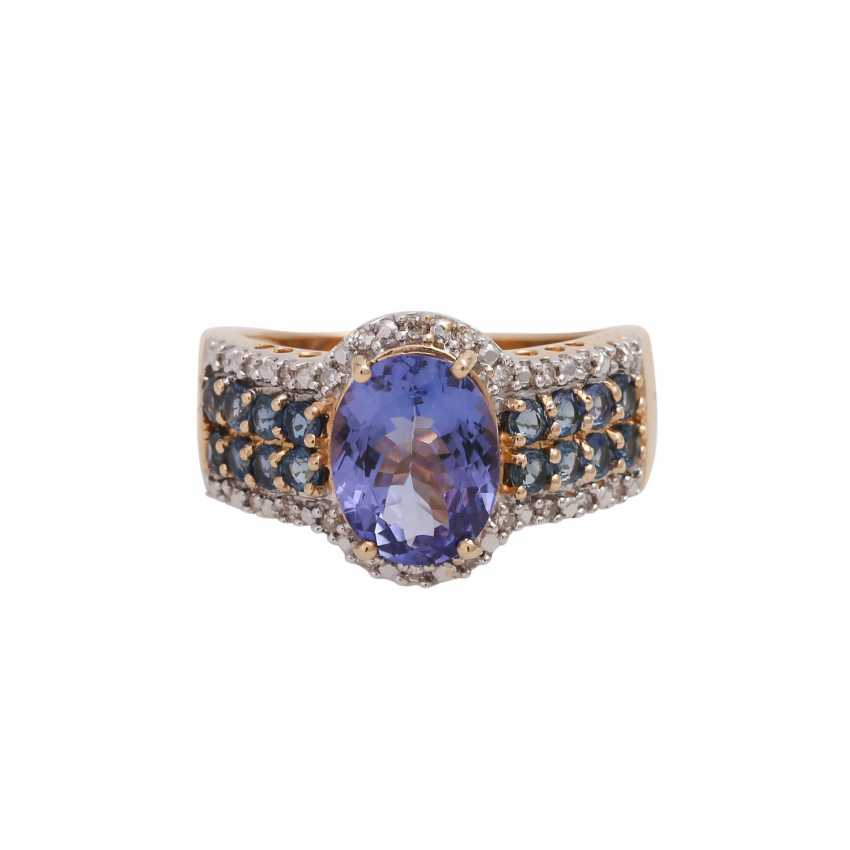 Ring mit oval fac. Tansanit, ca. 2,2 ct, - photo 1
