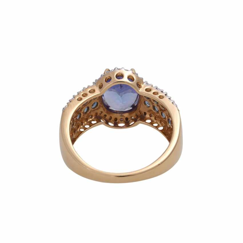 Ring mit oval fac. Tansanit, ca. 2,2 ct, - photo 4