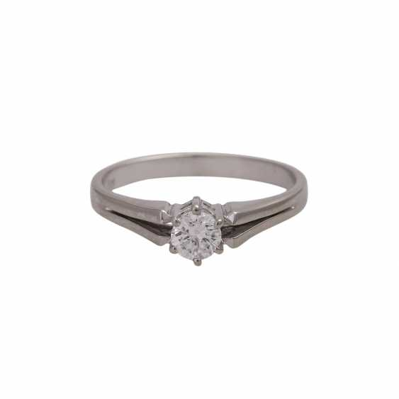 Solitaire ring with brilliant approx 0,41 ct, (engraved) - photo 1
