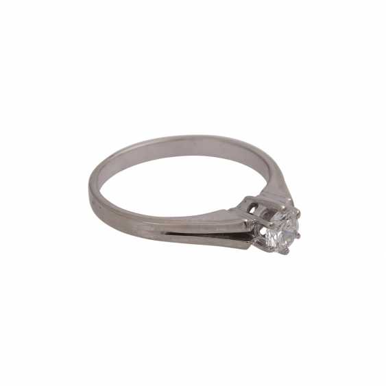 Solitaire ring with brilliant approx 0,41 ct, (engraved) - photo 2