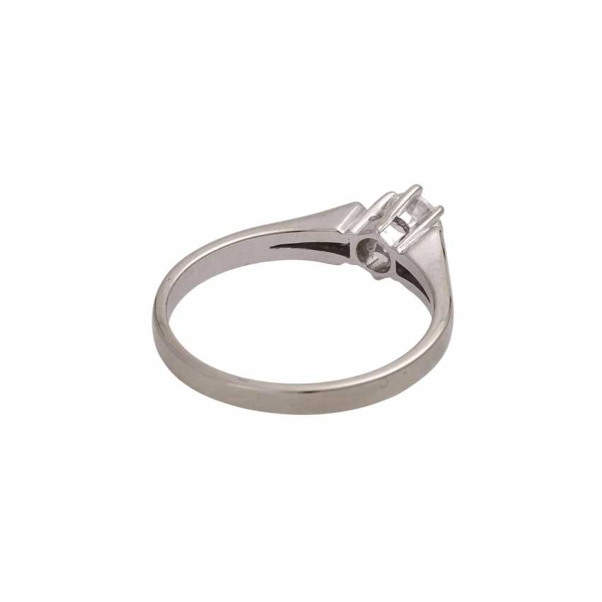 Solitaire ring with brilliant approx 0,41 ct, (engraved) - photo 3