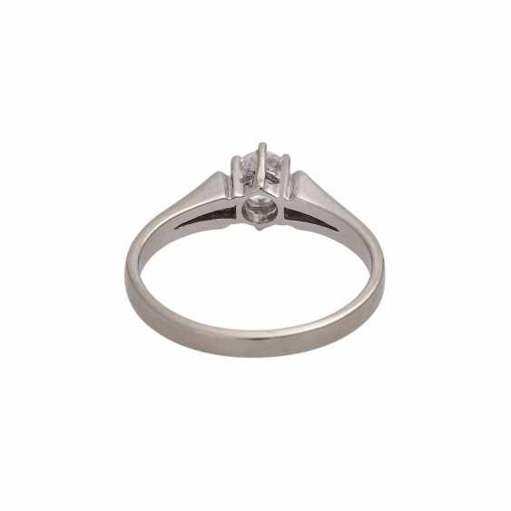 Solitaire ring with brilliant approx 0,41 ct, (engraved) - photo 4