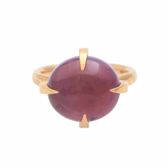 Ladies ring with amethyst cabochon - photo 1