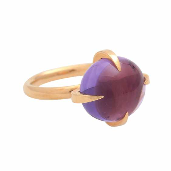 Ladies ring with amethyst cabochon - photo 2