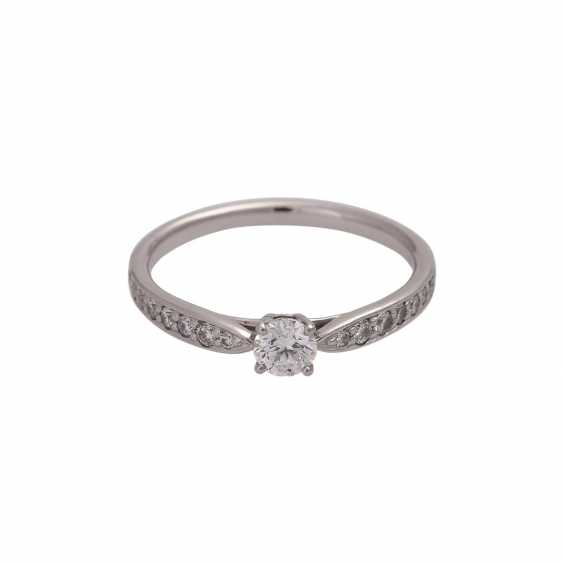 TIFFANY & CO Ring mit Brillant, ca. 0,23 ct, FW (F)/VVS1 - photo 1