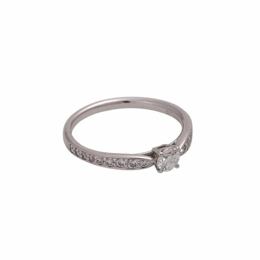 TIFFANY & CO Ring mit Brillant, ca. 0,23 ct, FW (F)/VVS1 - photo 2