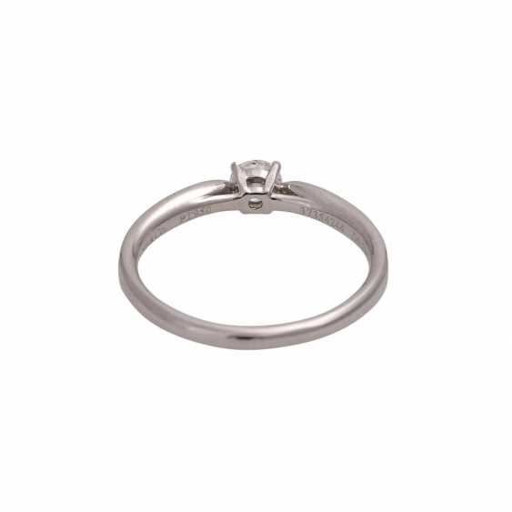 TIFFANY & CO Ring mit Brillant, ca. 0,23 ct, FW (F)/VVS1 - photo 4