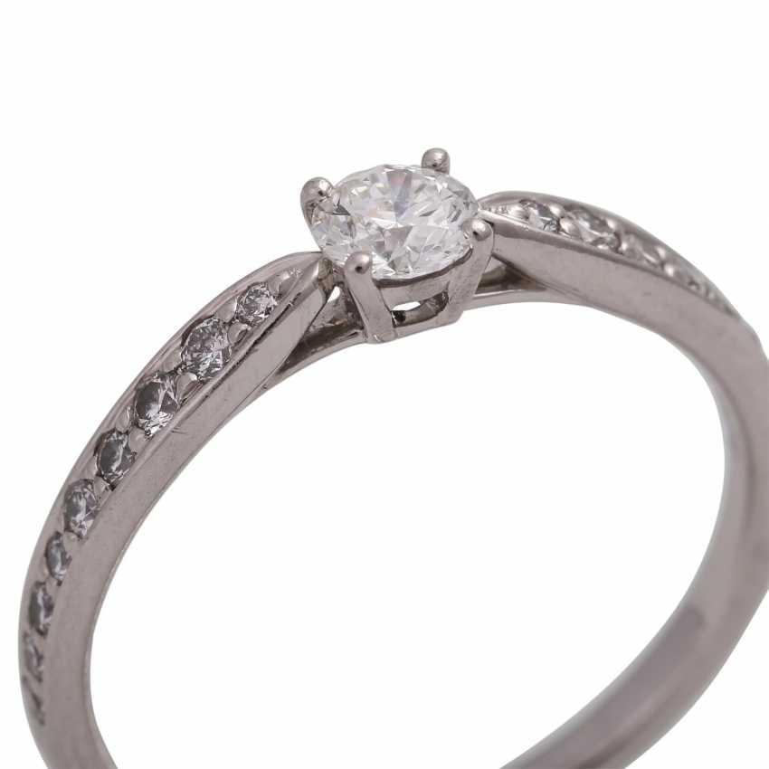 TIFFANY & CO Ring mit Brillant, ca. 0,23 ct, FW (F)/VVS1 - photo 5
