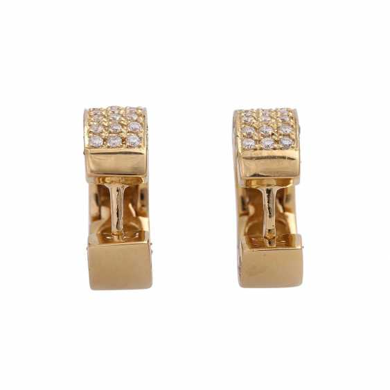 Hoop earrings set with 120 brilliant-cut diamonds, together approx 1.2 ct, - photo 4