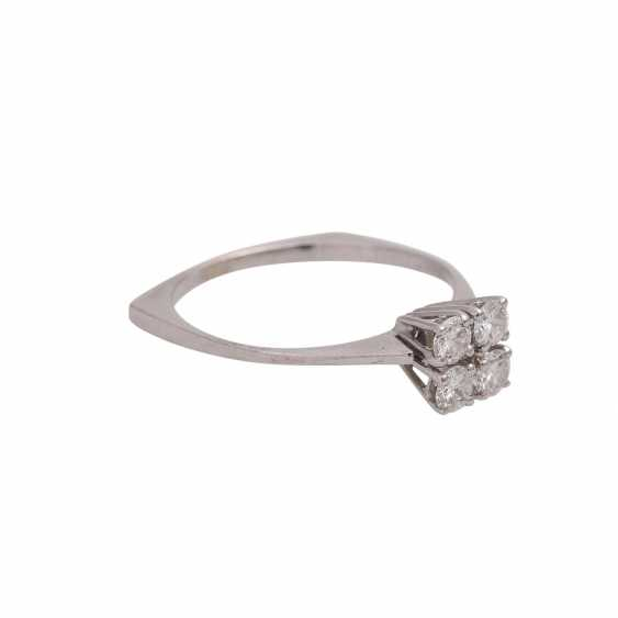 Ring with 4 brilliant-cut diamonds, together approx 0.4 ct, FW (G)/VS - photo 2