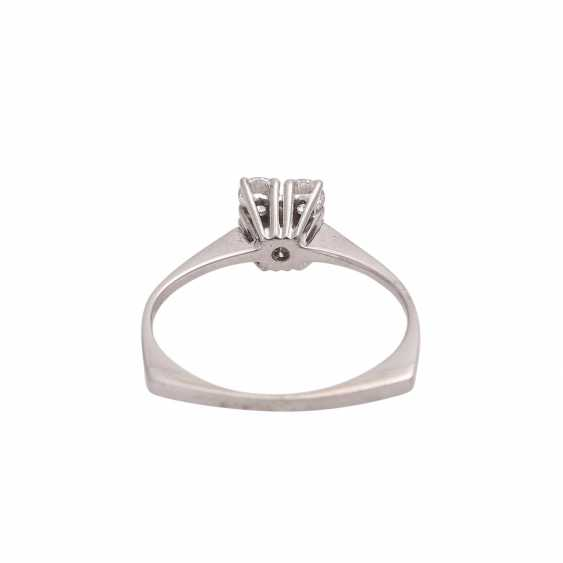 Ring with 4 brilliant-cut diamonds, together approx 0.4 ct, FW (G)/VS - photo 4
