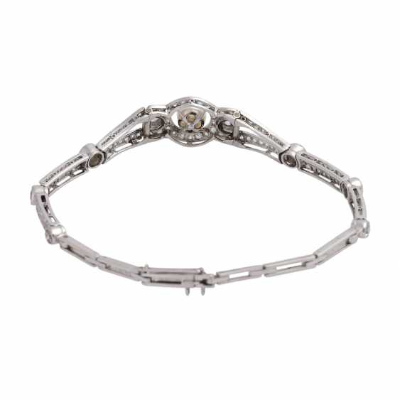 Bracelet bes. with 8 old European cut of approx 1.2 ct diamonds, together, - photo 2