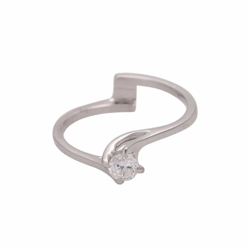 Solitaire ring with brilliant, approximately 0.25 ct LGW (I-J)/VS, - photo 1