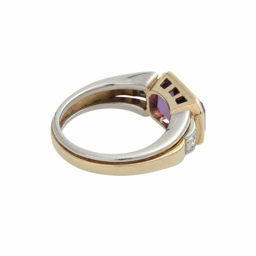 Ring with Amethyst, octagonal in shape approximately 11x7 mm - photo 3