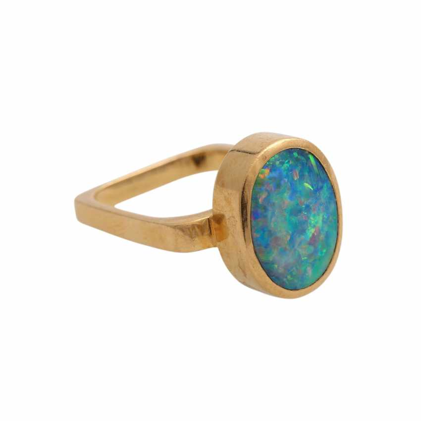 Ring mit Opal, oval, ca. 13x10 mm, - photo 2