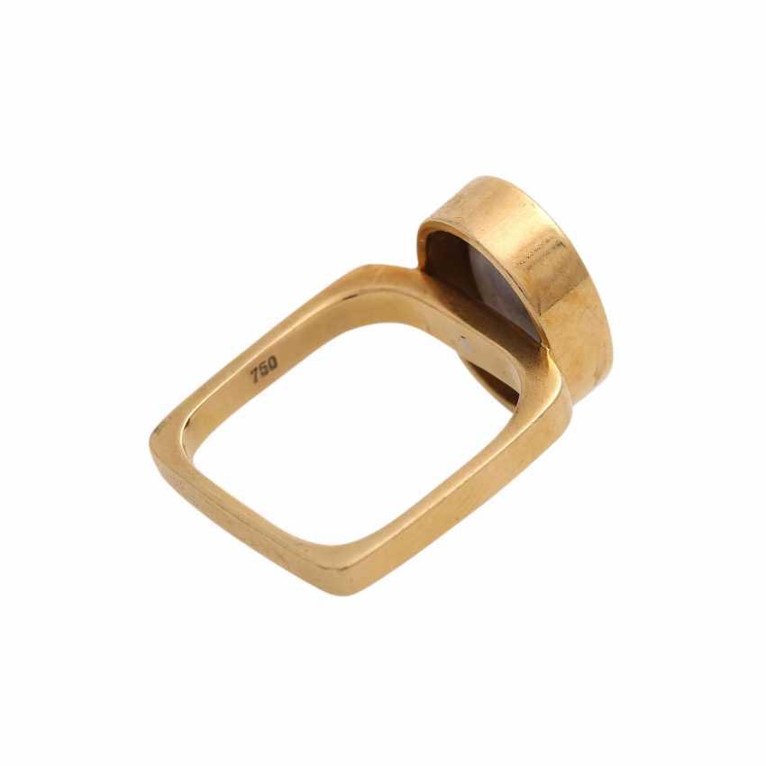 Ring mit Opal, oval, ca. 13x10 mm, - photo 3