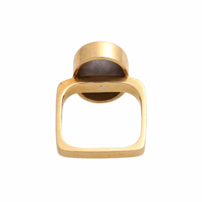 Ring mit Opal, oval, ca. 13x10 mm, - photo 4