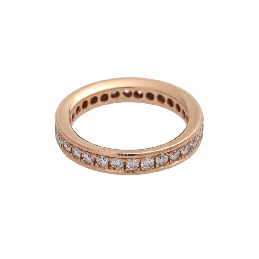 Eternity Ring with brilliant-cut diamonds, together approx 0.72 ct, - photo 1