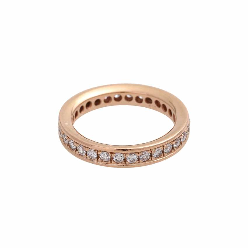 Eternity Ring with brilliant-cut diamonds, together approx 0.72 ct, - photo 2
