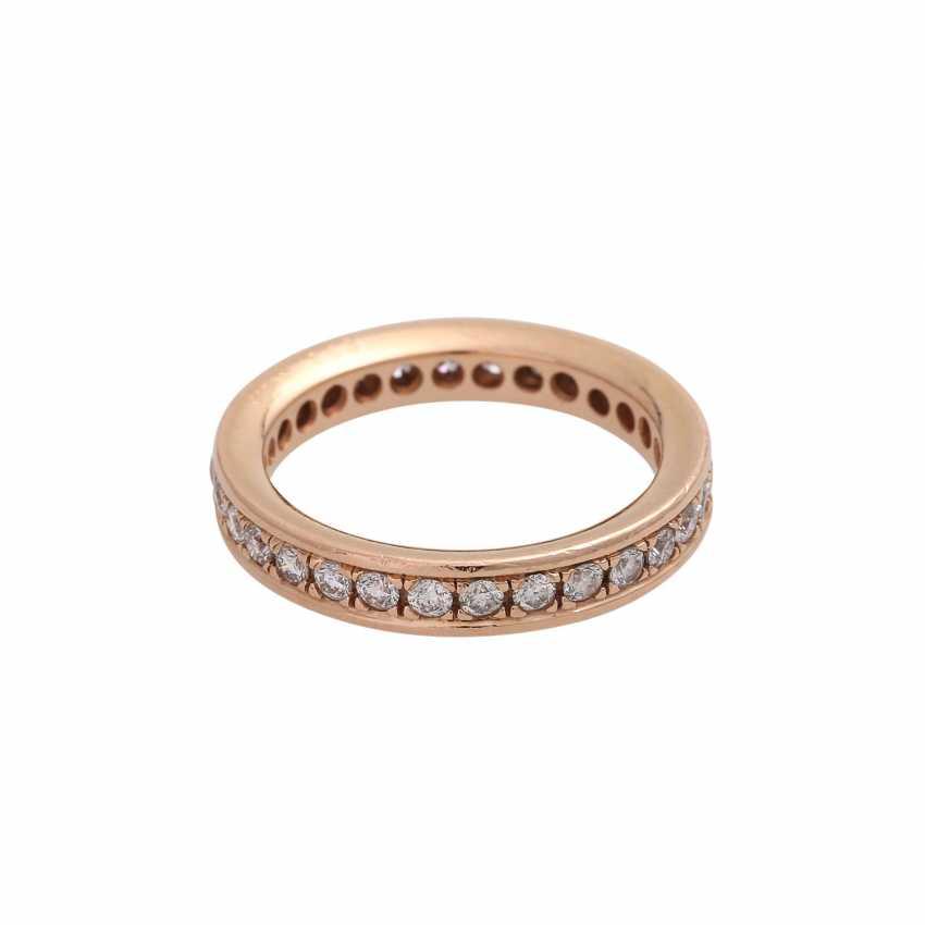 Eternity Ring with brilliant-cut diamonds, together approx 0.72 ct, - photo 3