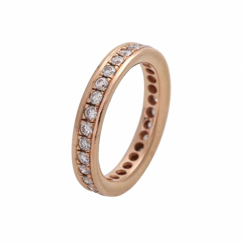 Eternity Ring with brilliant-cut diamonds, together approx 0.72 ct, - photo 4
