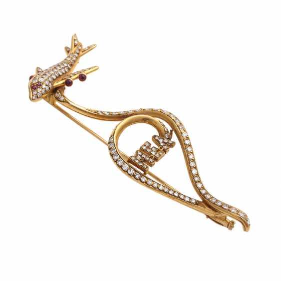 Fancy brooch bes. with 127 octagonal diamonds - photo 3