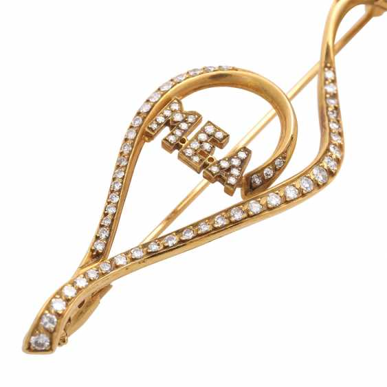 Fancy brooch bes. with 127 octagonal diamonds - photo 5
