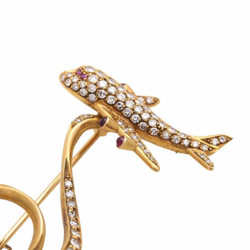 Fancy brooch bes. with 127 octagonal diamonds - photo 6