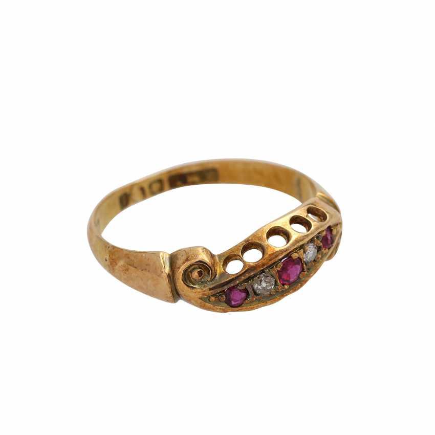 Set of 3 antique rings, Britain, 1880-1920, - photo 3