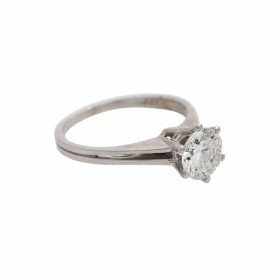 Solitaire ring with brilliant, approximately 1,3 ct, WHITE (H)/P3, - photo 2