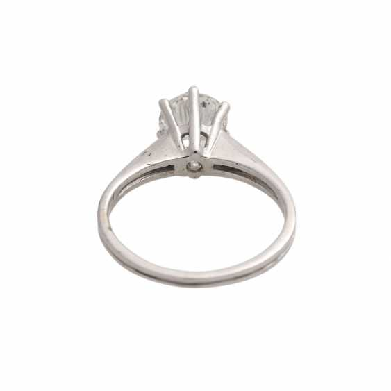 Solitaire ring with brilliant, approximately 1,3 ct, WHITE (H)/P3, - photo 4