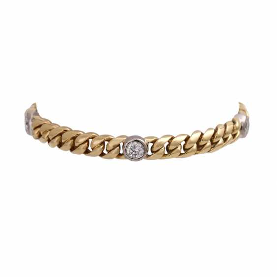 Bracelet with 5 diamonds, together approx. a 1.5 ct, WHITE-LGW (H-I)/VS-SI, - photo 1