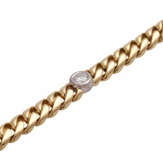 Bracelet with 5 diamonds, together approx. a 1.5 ct, WHITE-LGW (H-I)/VS-SI, - photo 4