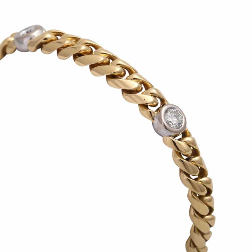Bracelet with 5 diamonds, together approx. a 1.5 ct, WHITE-LGW (H-I)/VS-SI, - photo 5