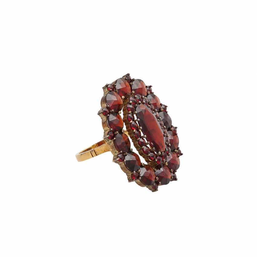 Set of Ring and bracelet bes. with garnet, - photo 3
